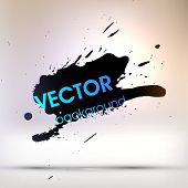 Black Paint Stains, Vector Splatter