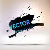 Black Paint Stains, Vector Splatter