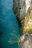 Deep precipice