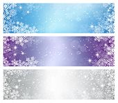 Three elegant Christmas banners
