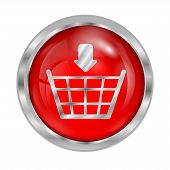 Icon Button To Shop Online Isolated On White Background