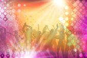 foto of groupies  - many people are dancing in a disco - JPG
