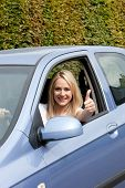 Woman Driver Giving A Thumbs Up