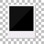 Blank retro photo frame.