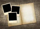 Polaroid-style Photo On A Linen Background