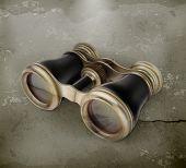 Vintage binoculars old style vector