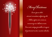 Christmas Card. Celebration Background With Sparkler And Place For Your Text.