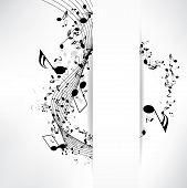 image of treble clef  - abstract musical background with notes - JPG