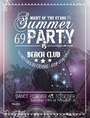 Beach Party Flyer for your latin music event or poster