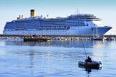 Cruise Ship Costa Mediterranea In Alanya Harbor, Turkey