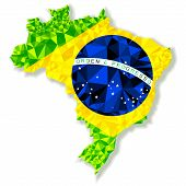 Vector Illustration Of Brazil Isolated