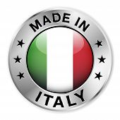 Made In Italy Silver Badge