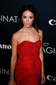 NEW YORK- OCT 24: Actress Abigail Spencer attends the premiere of Canon's 'Project Imaginat10n' Film