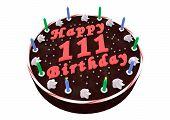 Chocolate Cake For 111Th Birthday