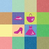 colorful background of lady costume