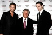 LOS ANGELES - APR 11:  Colin Egglesfield, Mario Andretti, Sam Witwe at the Long Beach Grand Prix Fou