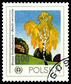 Vintage  Postage Stamp. Birch.
