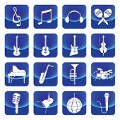 music instruments vector button