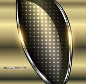 Abstract background 3D elegant gold, vector illustration.