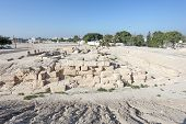 image of bahrain  - Archaeological site of the Barbar Temple in Bahrain Middle East - JPG