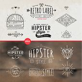 Hipster Style Vintage Elements and Icons Set for Retro Design.