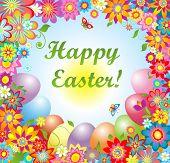 Easter greeting card. Raster copy