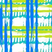 Pattern with wide brushstrokes and stripes in bright colors