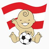 Baby Soccer Boy with Austria Flag