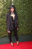 LOS ANGELES - APR 13:  Kat Graham at the John Varvatos 11th Annual Stuart House Benefit at  John Var