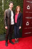 LOS ANGELES - APR 13:  Darren Le Gallo, Amy Adams at the John Varvatos 11th Annual Stuart House Bene