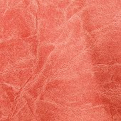 Red Worn Leather Texture Background
