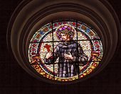 Saint John Of God Stained Glass Basilica Cathedral Andalusia Granada Spain