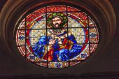 Saint Gregory Stained Glass Basilica Cathedral Andalusia Granada Spain