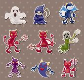 foto of amoeba  - Ghost And Devil Stickers - JPG