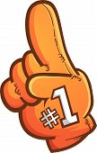 Foam Finger Vector Cartoon Graphic