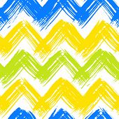 Chevron pattern hand painted with brushstrokes