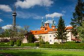 Famous Lookout Tower And Church Of St.lawrence On The Petrin Hill In Prague