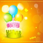 vector greeting card of birthday