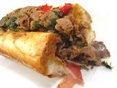 picture of cheesesteak  - A Philadelphia cheesesteak sandwhich with prosciutto - JPG
