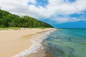 Tropical Beach on Moreton Island, Queensland, Australia