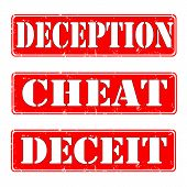 Deception,cheat,deceit