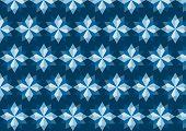 Abstract Blue Rhomboid Pattern On Dark Blue Background