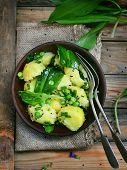 Potatoes ,ramson And Green Pea Spring Salad