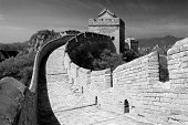 Black And White View Of Great Wall - China