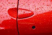 Постер, плакат: Красный спортивный автомобиль двери