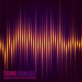 picture of waveform  - Abstract music equalizer - JPG