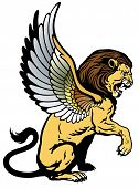 Sitting Winged Lion