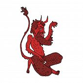 cartoon traditional devil