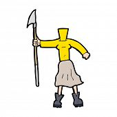 cartoon female body with spear (add photos or mix and match cartoons)