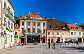 Council Square In Brasov, Romania